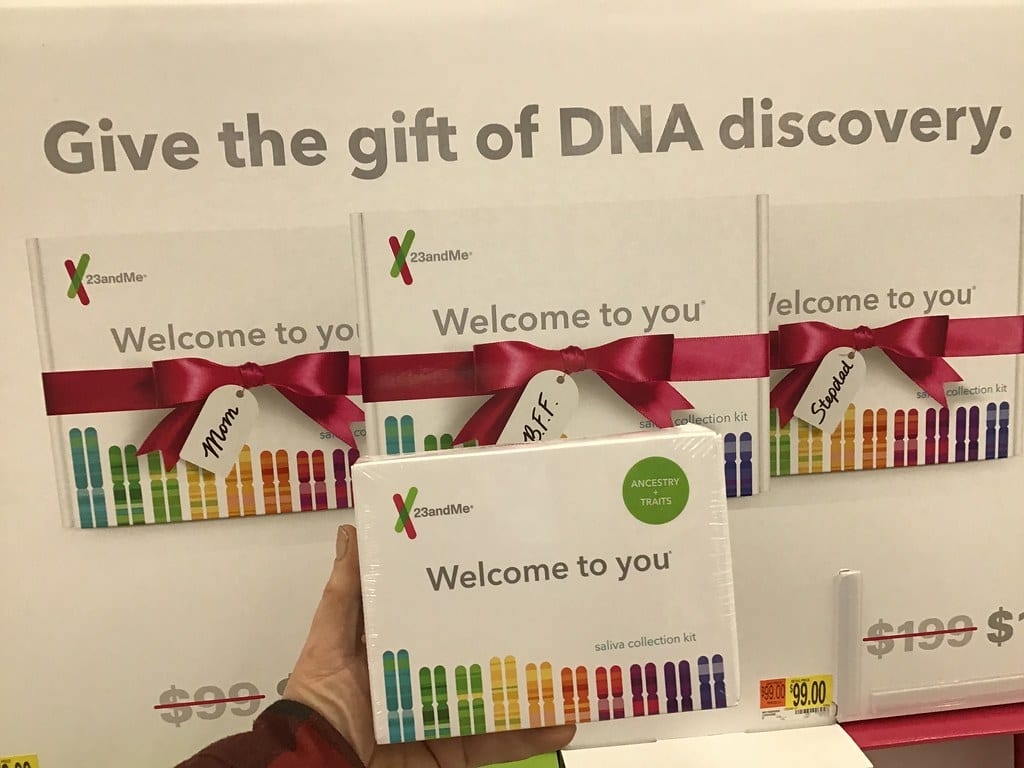 Example of a 23andMe DNA Test Kit