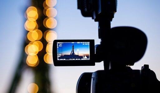 Image of video camera recording scenery