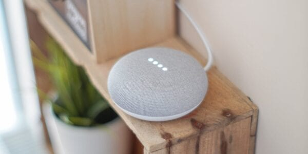 A Picture of a Google Smart Speaker