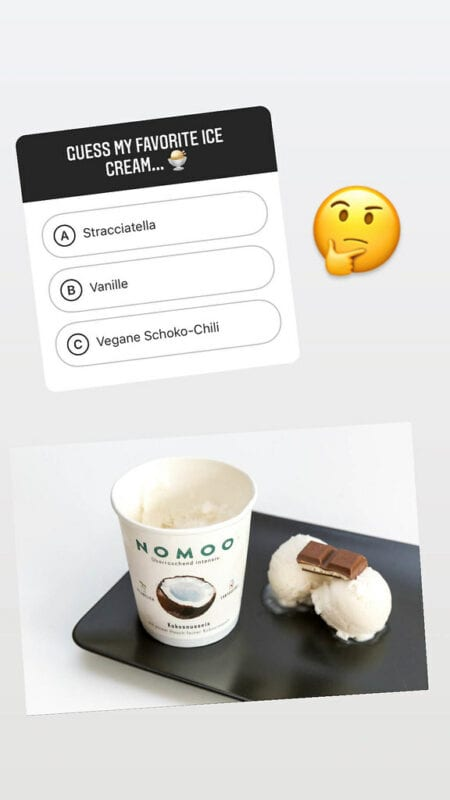 Instagram Story with Multiplle Choice  Ice Cream Question
