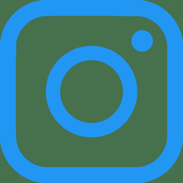 Instagram Logo in Blue