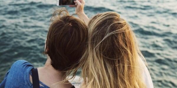 Girls taking a selfie