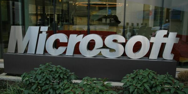 Image of Microsoft Sign Outside Office