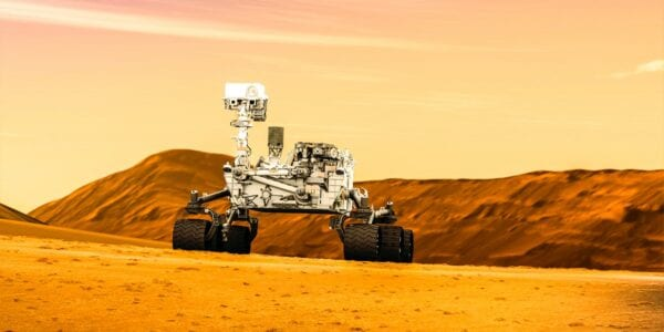 The Mars Rover assisting humans in outer space by being in a place humans cannot be long-term